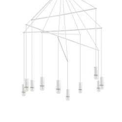 Ideal Lux Pop SP10 lampadario moderno in metallo rifinito con vernice opaca E27 60W
