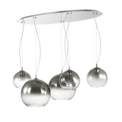 Ideal Lux Nemo Plus SP5 lampadario a sospensione in vetro soffiato  E27 60W