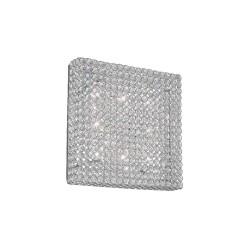 Ideal Lux Admiral PL8 plafoniera soffitto design moderno per soggiorno in cristallo molato G9