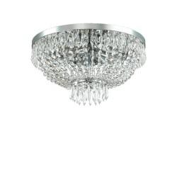 Ideal Lux Caesar PL6 plafoniera classica con elementi decorativi in cristallo molato G9