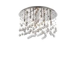 Ideal Lux Moonlight PL12 plafoniera moderna in cristallo molato G9