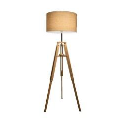 Ideal Lux Klimt PT1 lampada da terra soggiorno in legno naturale E27 60W