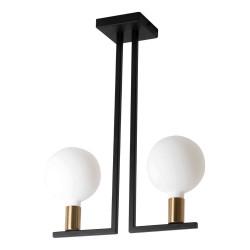 Rossini TWIN lampada da soffitto nero ottone satinato