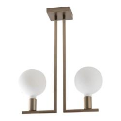 Rossini TWIN lampada da soffitto ottone satinato