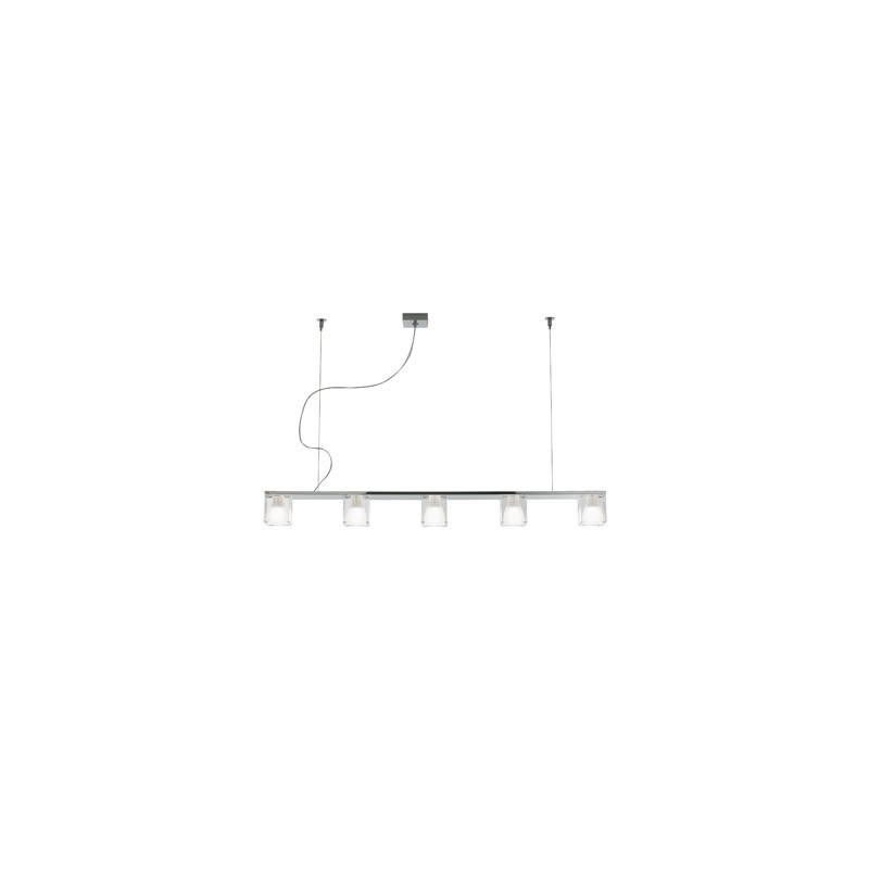 Fabbian Cubetto 5 luci cristallo - Prezzi lampadari moderni