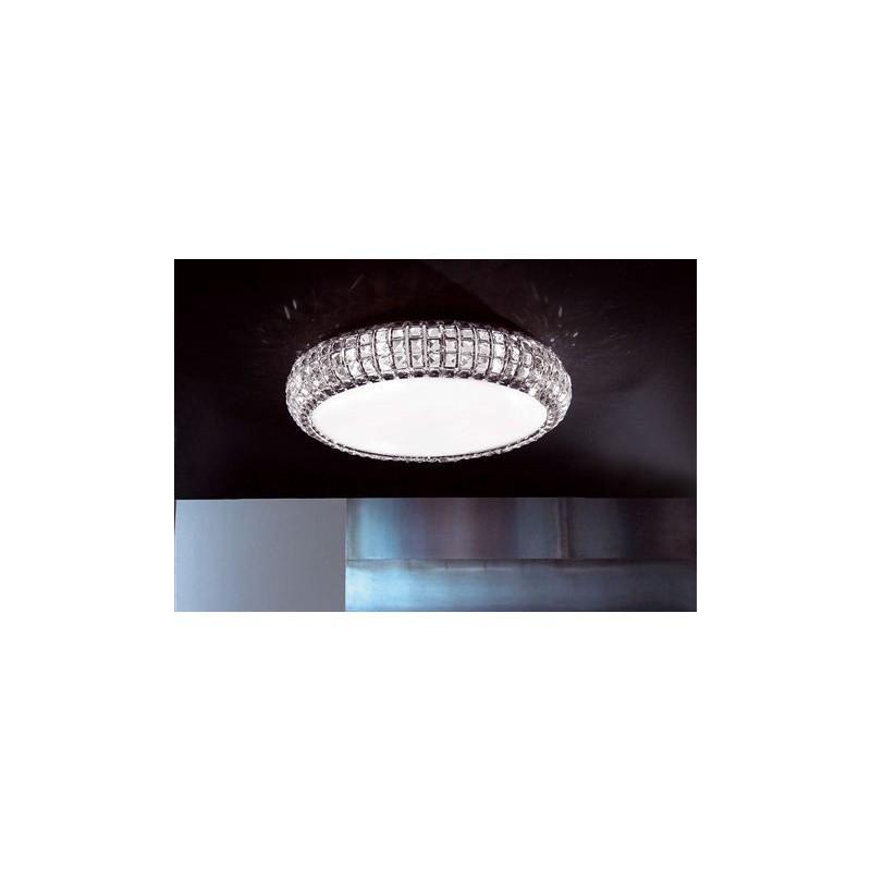 Marchetti Andromeda PL90 plafoniera con diffusore in cristallo