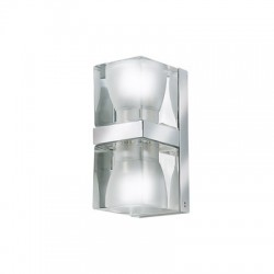 Fabbian Cubetto da parete 2 luci cristallo