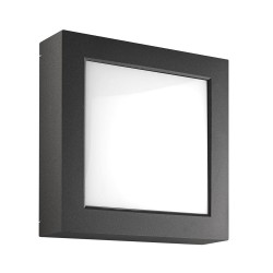 Rossini Enter ENT007 plafoniera led quadrata in alluminio per esterni