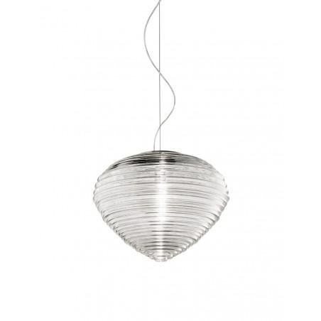 Vistosi Spirit SP 37 lampadario moderno in cristallo trasparente diametro 37 cm