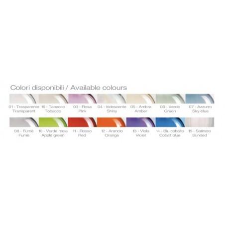 Scheda colori disponibili per il decorato