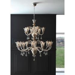 Cangini & Tucci Anastasia 1154.12+6/18L lampadario classico diametro 115 cm