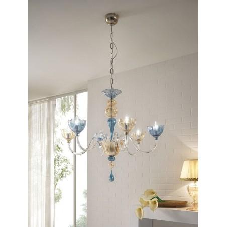 Cangini & Tucci Color 54.6L lampadari da soffitto classici a 6 luci