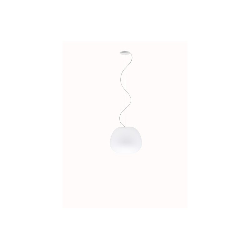 Fabbian Lumi Mochi F07A03 sospensione moderna in vetro