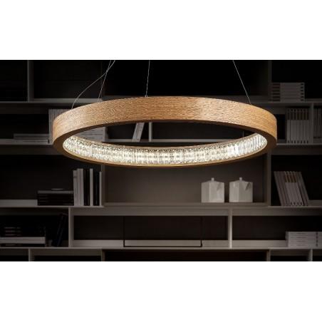 Masiero Libe Round S60 - lampada moderna in legno