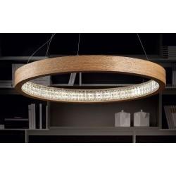 Masiero Libe Round S90 - lampada moderna in legno