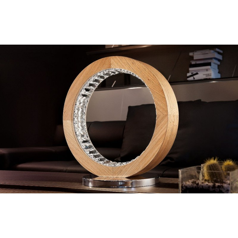 Masiero Libe Round TL40 - lampada da tavolo in legno