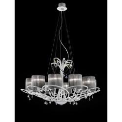 Aida L10L Bellart lampadario classico con paralumi