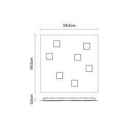 Fabbian Quarter F38 G13 plafoniera moderna led