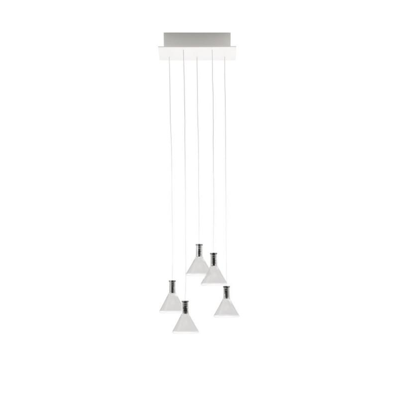 Fabbian Multispot Polair F32 A47 lampadario moderno 5 luci