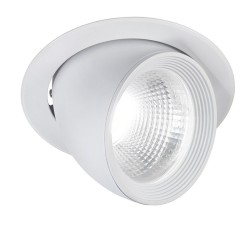 Rossini Loop Faretto da incasso led estraibile ed orientabile foro 172 mm