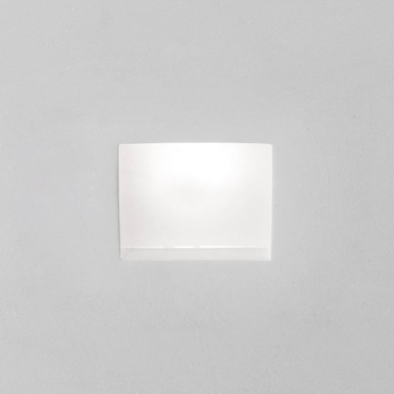 Rossini Luna 9833 incasso in gesso quadrato con vetro satinato