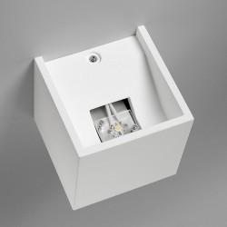 Sforzin Kos led T129 Applique moderna in gesso
