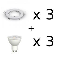 Faretti da incasso per cartongesso completi di lampadine led 7W 500 lm