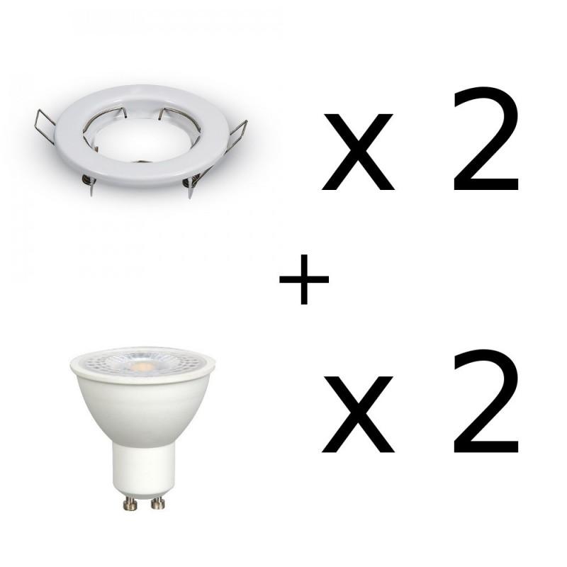 faretti da incasso per cartongesso completi di lampadine led 7w 500