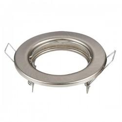 Faretto nichel satinato per cartongesso foro 50 mm esterno 80 mm