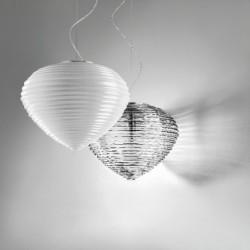 Vistosi Spirit SP 37 lampadario moderno in cristallo bianco diametro 37 cm