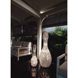 Marchetti Brillo HG lampada da terra moderna in cristallo struttura nichel
