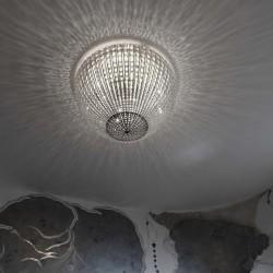 Marchetti Helios PL 50 plafoniera moderna in cristallo diametro 50 cm