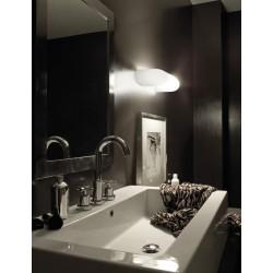 Vistosi Dos AP G lampada da parete moderna in vetro bianco satinato