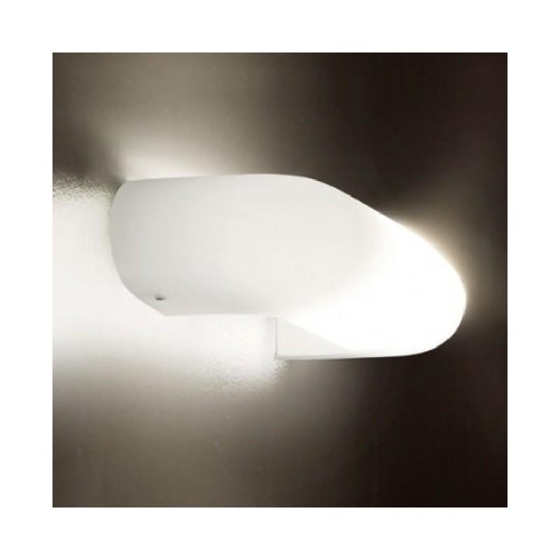 Vistosi Dos AP P applique moderna in vetro bianco satinato