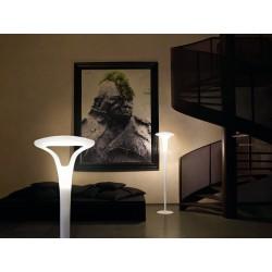 Vistosi Ferea PT Piantana di design con diffusore in vetro bianco satinato
