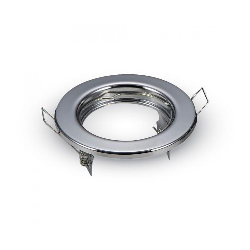 Faretto cromo per cartongesso foro 50 mm esterno 80 mm