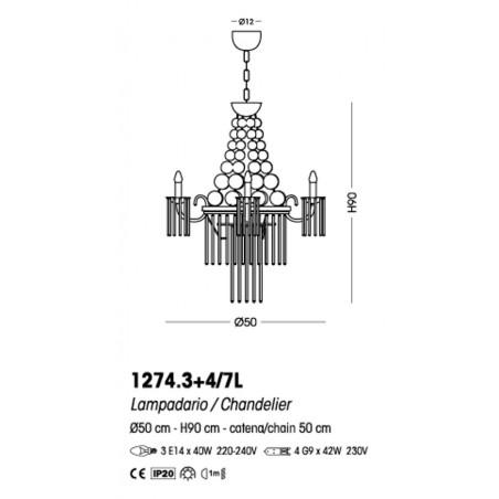 Cangini & Tucci Imperial 1274.3+4/7L sospensione classica