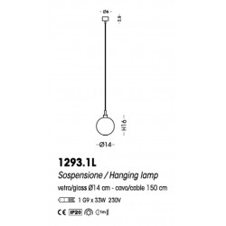 Cangini & Tucci Eclisse 1293.1L sospensione a una luce