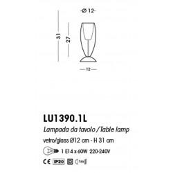 Cangini & Tucci Flute LU1390.1L lampada da tavolo