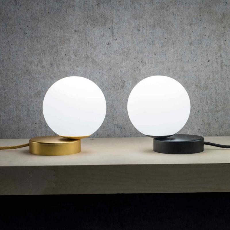 Marchetti Lumi LP lampada da tavolo in metallo nero oro bianco rame satinato nichel lucido
