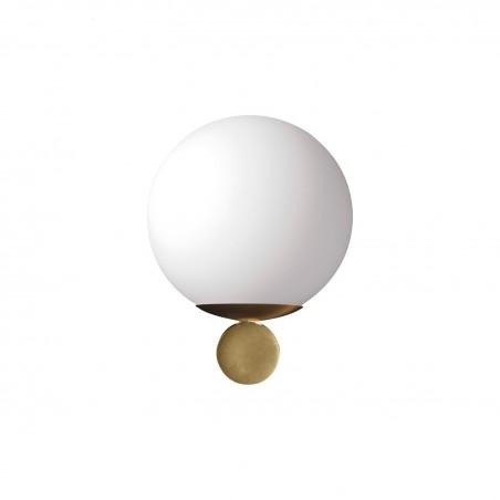 Marchetti Luna AP lampada da parete in metallo nero oro bianco