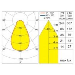 Belfiore plafoniera in gesso 8916