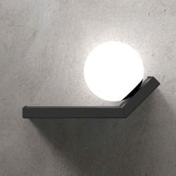 Marchetti Scivolo AP DX lampada da parete in metallo nero oro satinato oro spazzolato rame satinato bianco