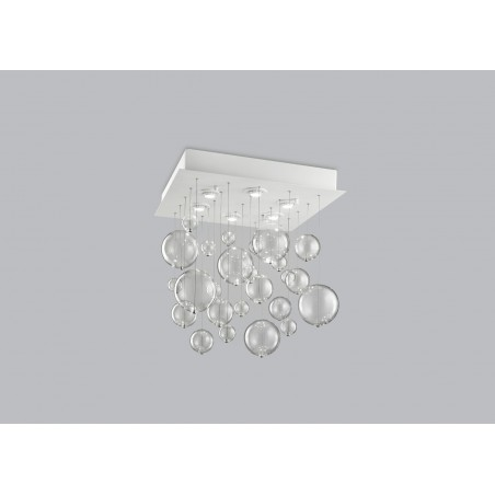 Bolero Metal lux plafoniera moderna base quadrata 60x60 cm