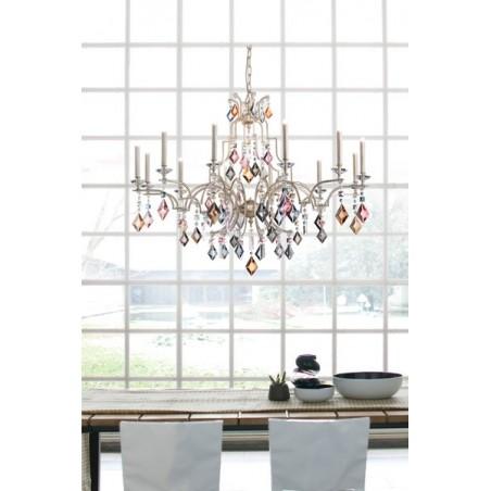 Masiero Lizzi 6+6 lampadario classico con pendenti