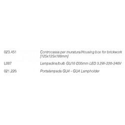 4275 faretto da incasso GU10 ottica arretrata di 9010