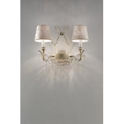 Masiero Glassè A2+1 Lampada da parete classica con paralumi damascati