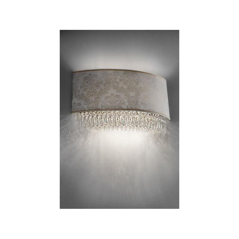 Masiero Glassè A4 Applique classica con paralume damascato
