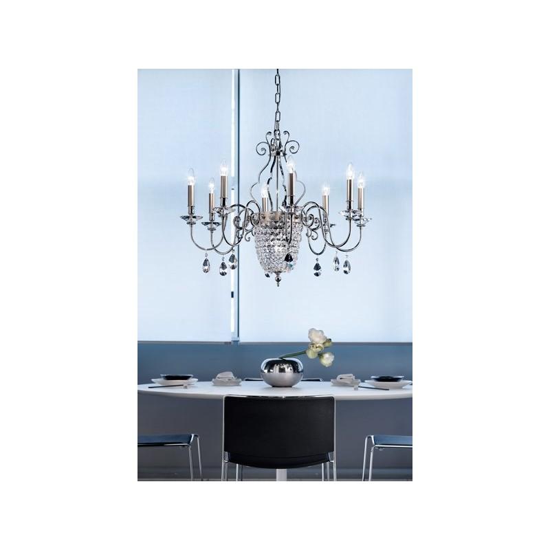 Masiero Elegantia 8+1 lampada a sospensione classica