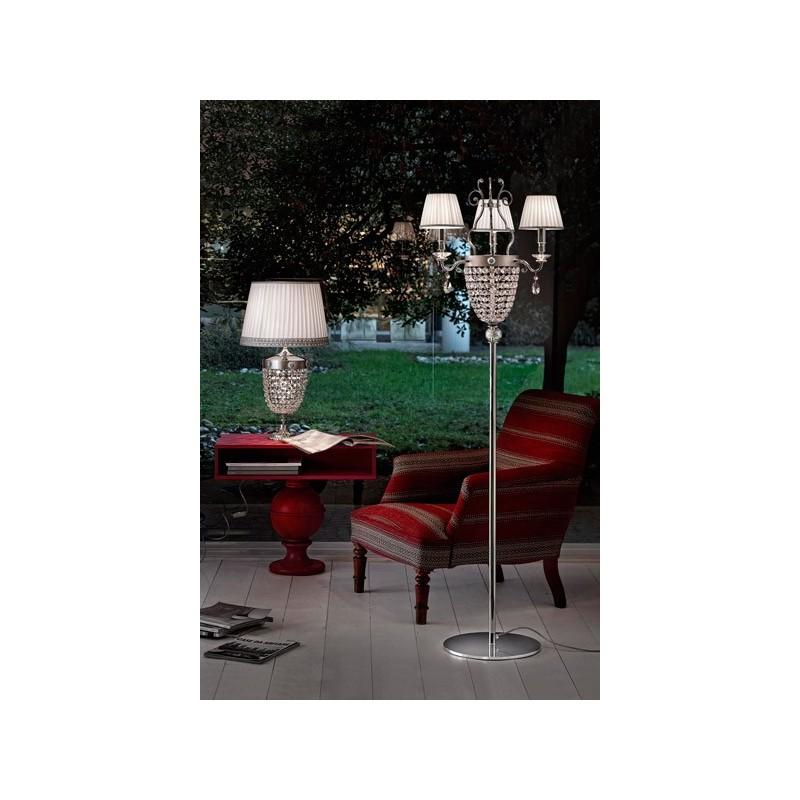 Masiero Elegantia STL3 lampada da terra con paralume, lampade da terra basse, lampade da terra bianche